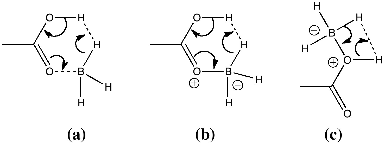 Acyloxyborane, transition state for dihydrogen elimination
