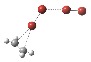 Complex formed between bromine and ethene