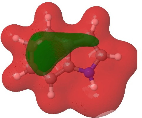 Molecular electrostatic potential. Click  for 3D.